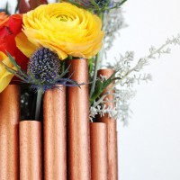 Faux Copper Vase