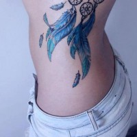 Feather Dreamcatcher Tattoo