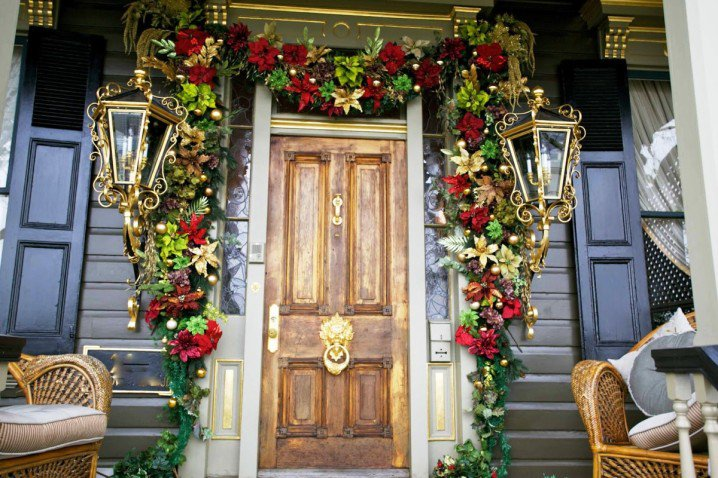 Flower Decorated Front Porch