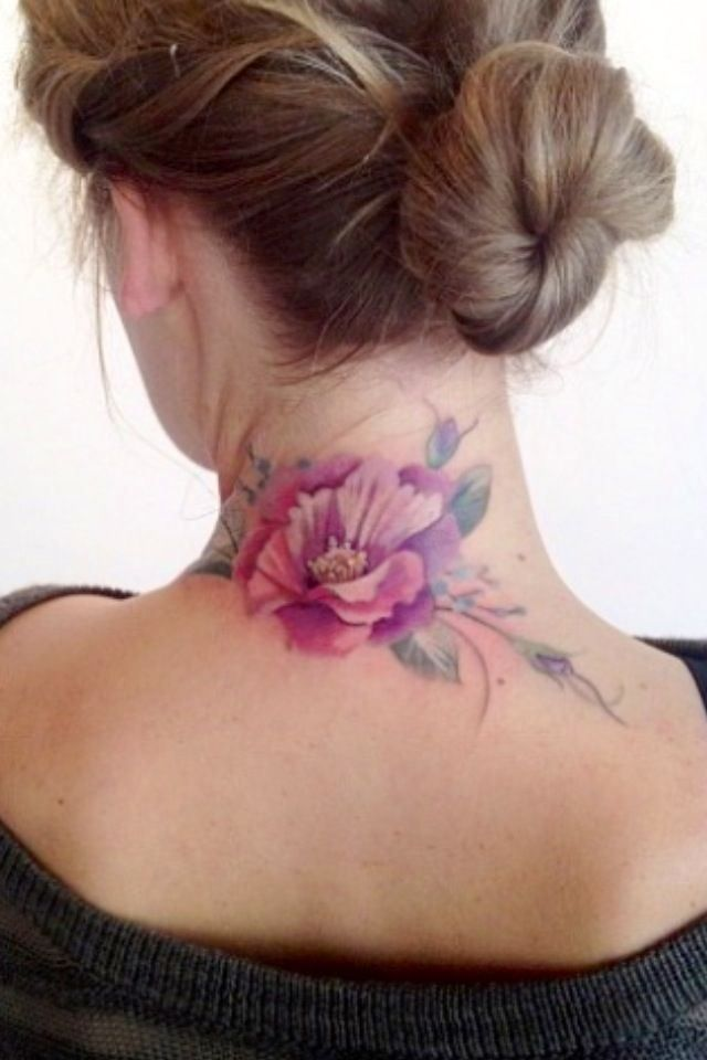 15 pretty neck tattoos for women pretty designs flower tattoo mightylinksfo