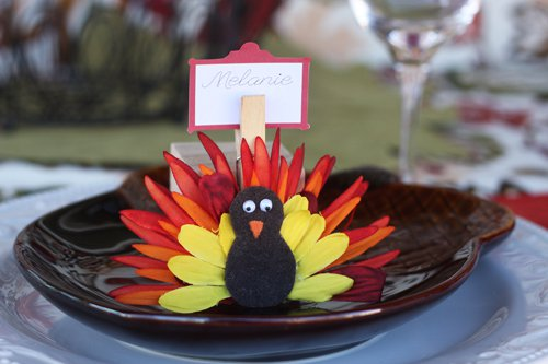 Flower Turkey Place Card