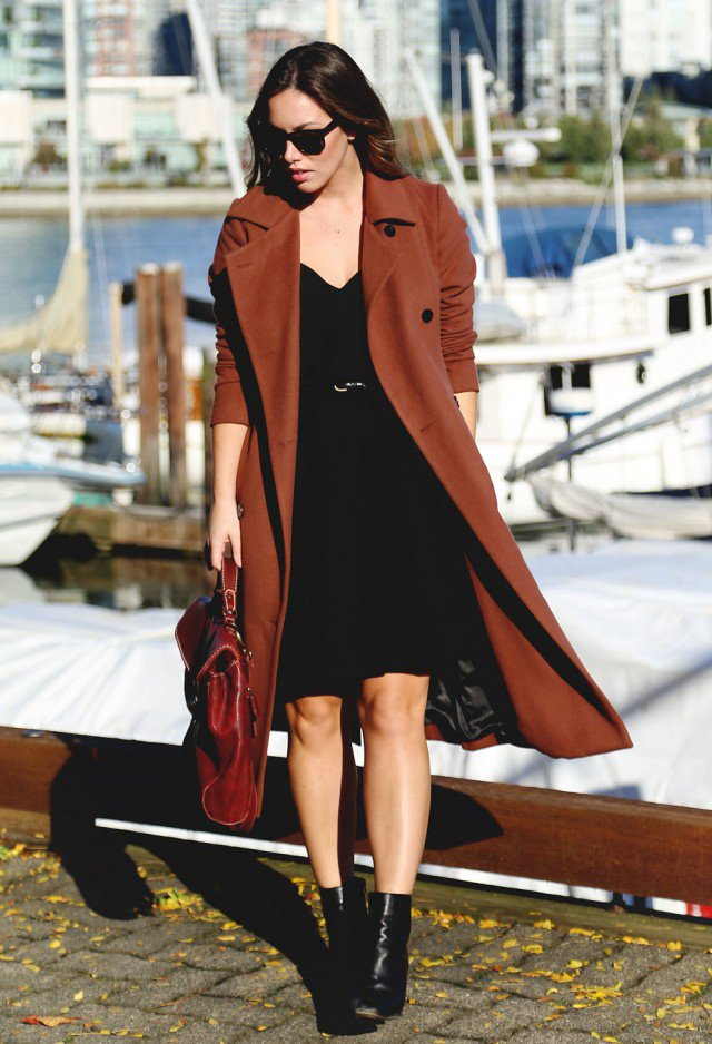 Formal Outfit Idea with A Brown Coat
