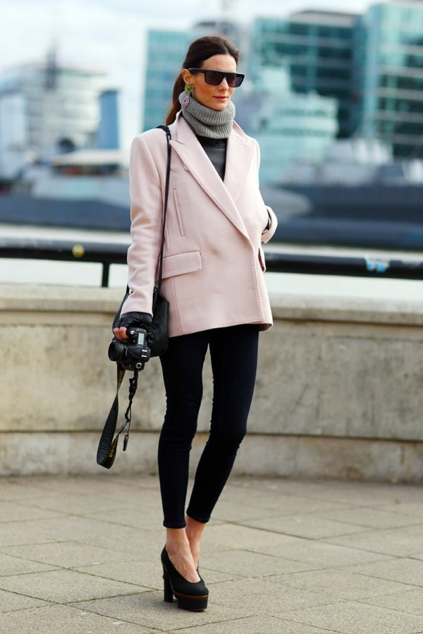Formal Outfit Idea with A Pastel Coat