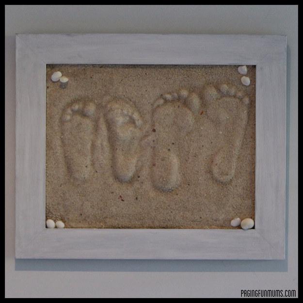 Framed Sand Foot Prints