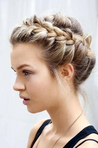 Strange How To French Braid Hair Band Braids Hairstyle Inspiration Daily Dogsangcom