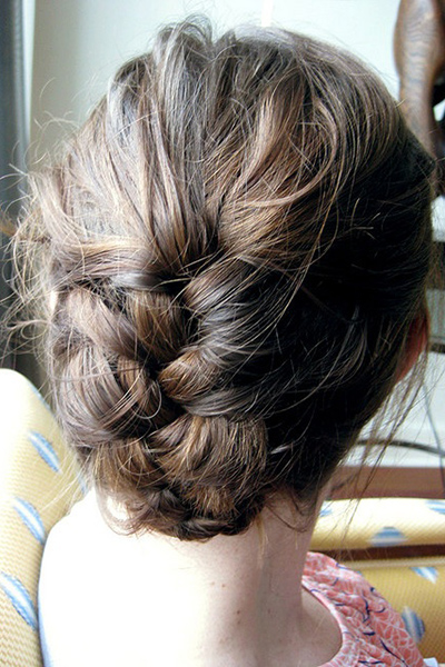 French Braided Updo