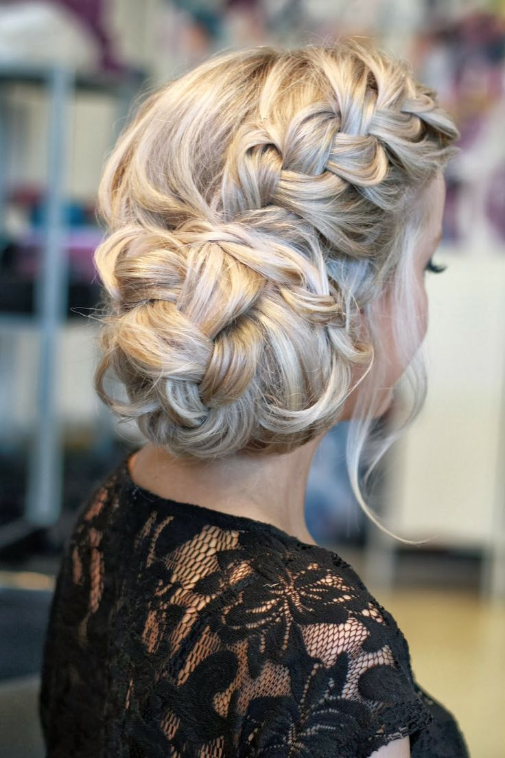 French Braided Wedding Updo