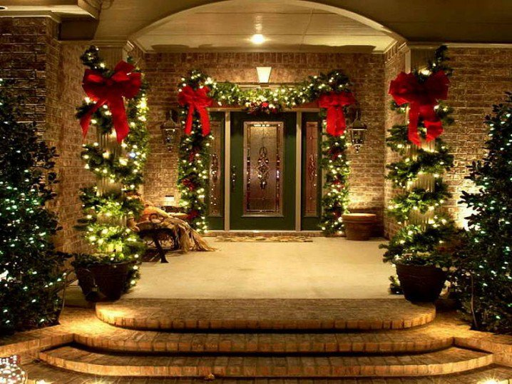 front porch ideas - Front Porch Christmas Decorations Ideas
