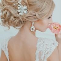 Glamorous Curly Wedding Updo