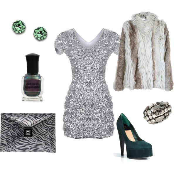 Glitter Outfit Idea for Holiday