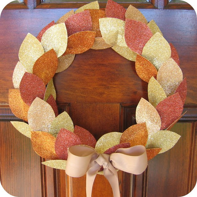 Gloden Leave Wreath