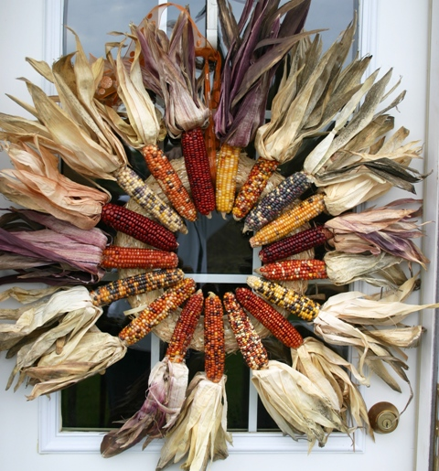 Glued Corn Wreath