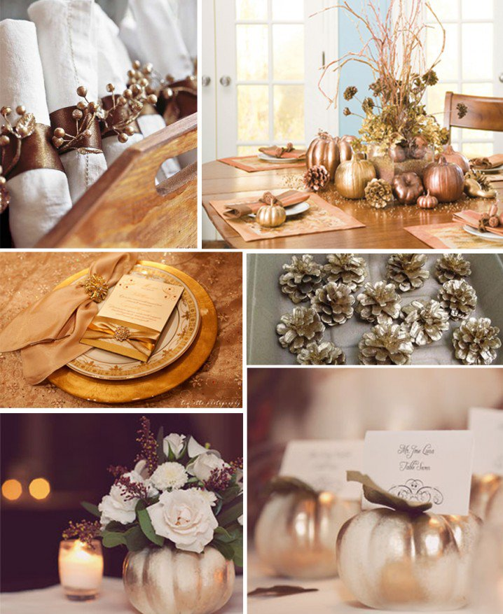 Gold Decorations for Table