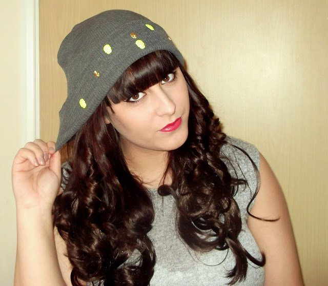Gold Skull Beanie Hat