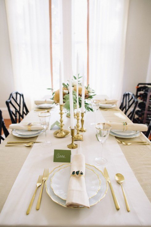 Gold Thanksgiving Table Design
