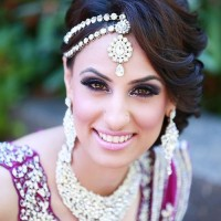 Gorgeous Indian Wedding Updo Hairstyle