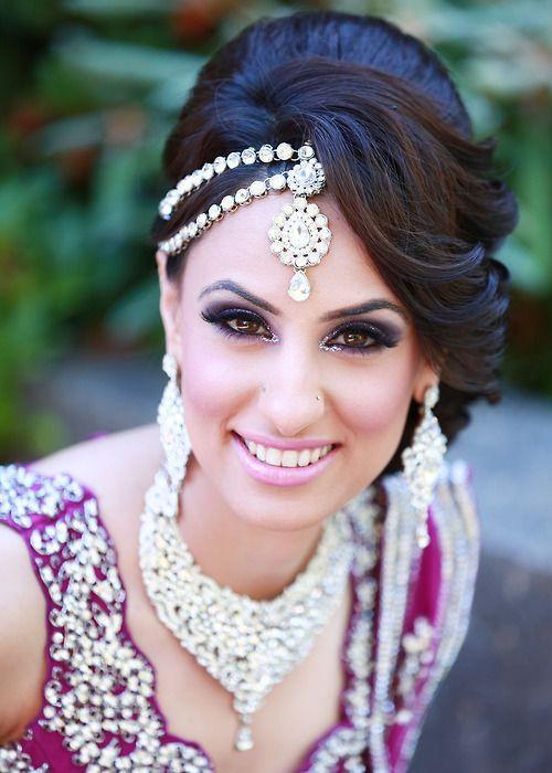 Gorgeous Indian Wedding Updo Hairstyle