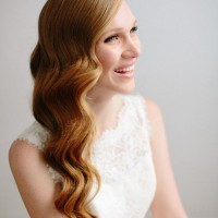 Gorgeous Long Wavy Wedding Hairstyle