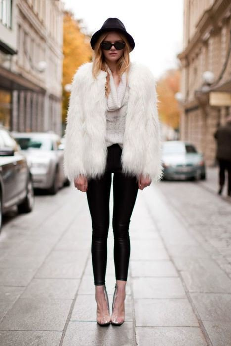 Gorgeous Outfit with Fur Coat