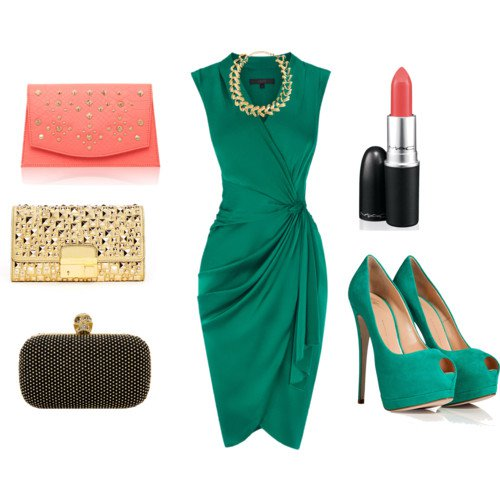 Green Polyvore Outfit for Holiday
