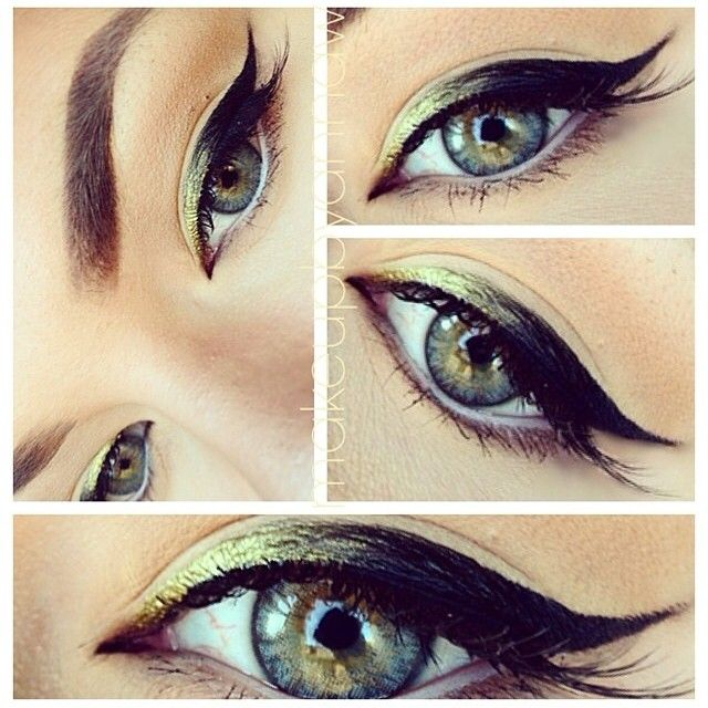 Green and Black Ombre Eyeliner