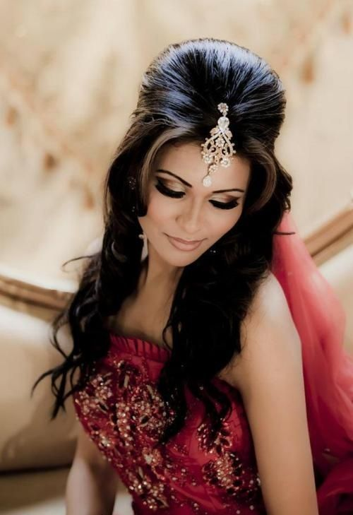 Half Up Indian Wedding Hairstyle