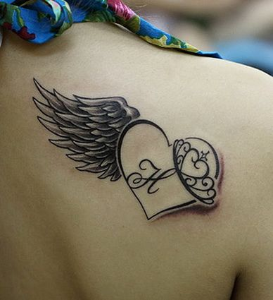 Heart Shape and Angel Wing