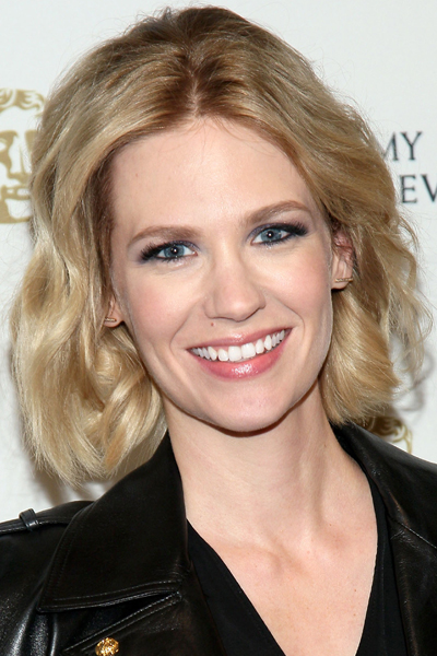 January Jones Curly Long Bob