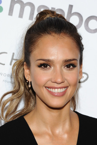 Jessica Alba High Ponytail
