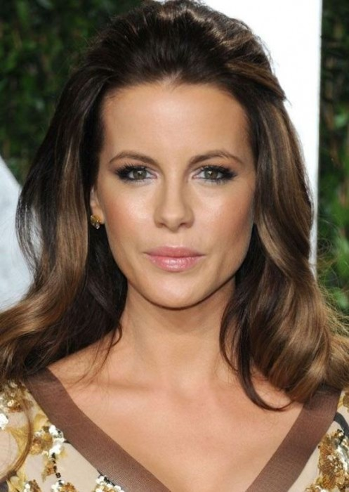 Kate Beckinsale Back-swept Half Up Half Down Hairstyle