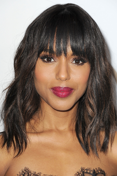 Kerry Washington Curly Long Bob