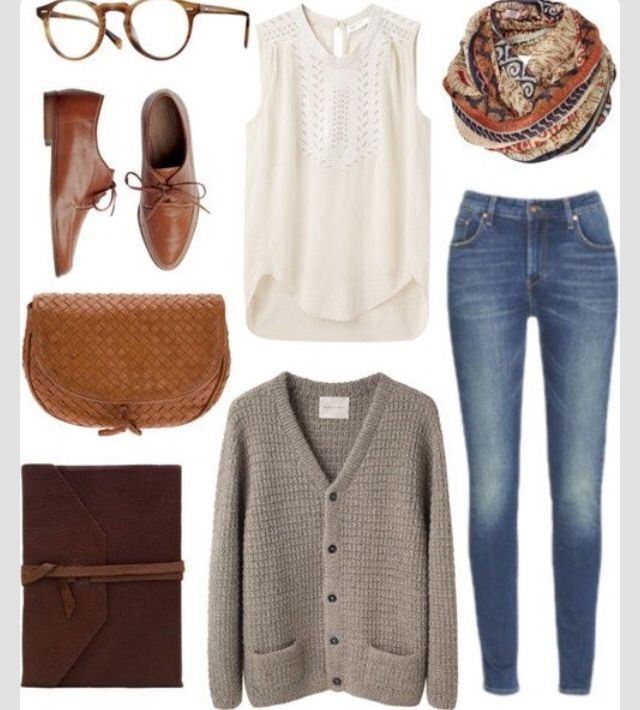 Knitwear and Jeans Outfit Idea for Winter