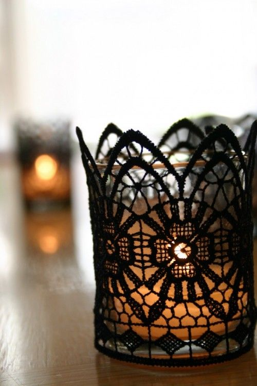 Lace Candle Holder