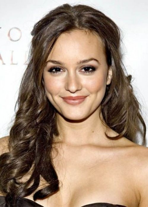 Leighton Meester Half Up Half Down Hairstyle