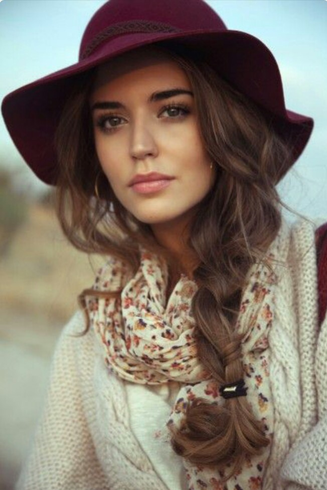 Loose Braid with A Hat