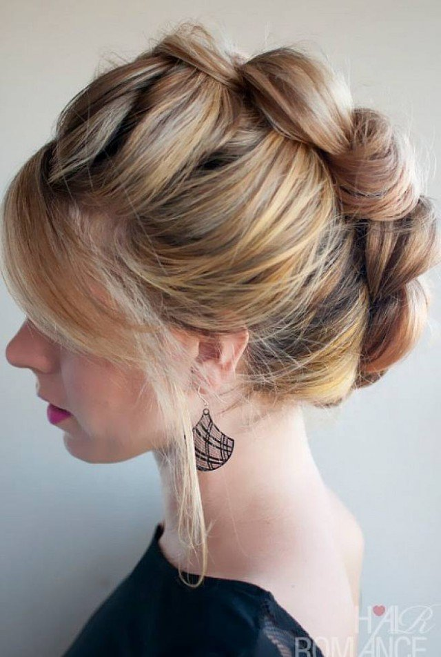 Lovely Braided Updo Hairstyle