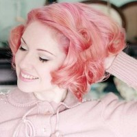 Lovely Pink Hair Color