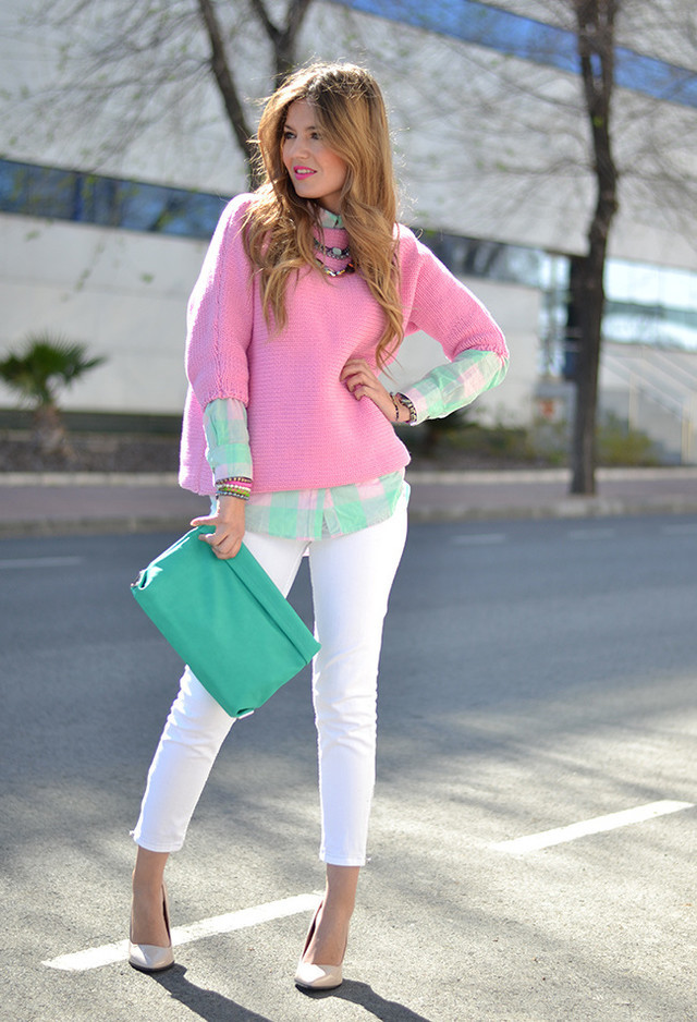 Lovely Pink Jumper Outfit for Winter