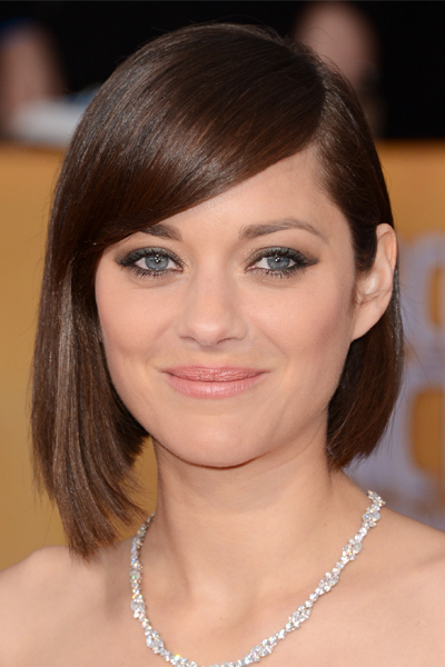 Marion Cotillard Long Bob with Side-swept Bangs