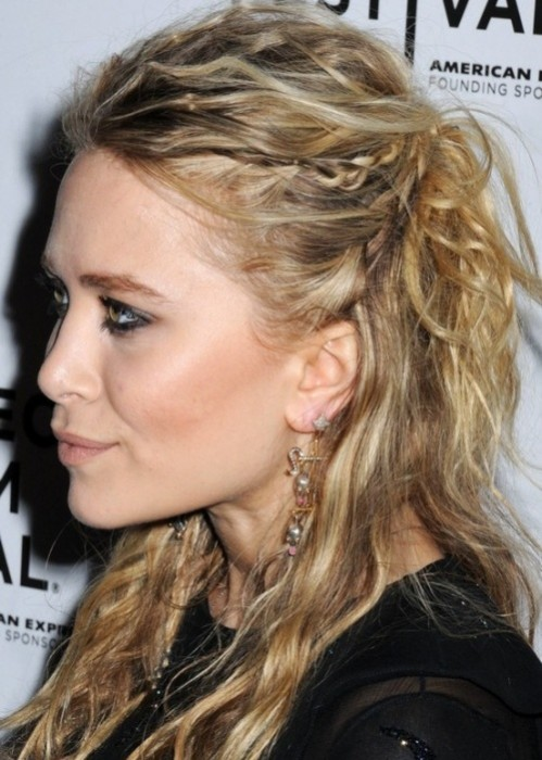 Mary-Kate Olsen Half Up Half Down Hairstyle