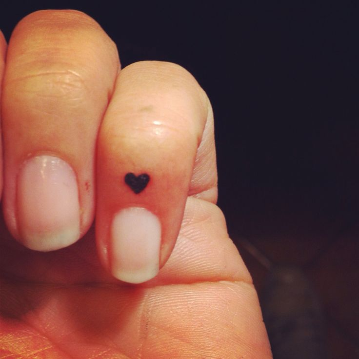 Micro Heart Tattoo
