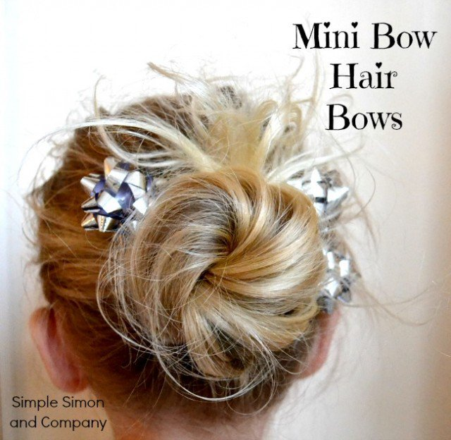 Mini Hair Bow with Accessory