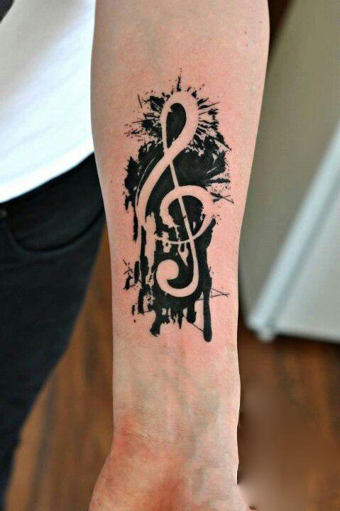 No Line Music Tattoo
