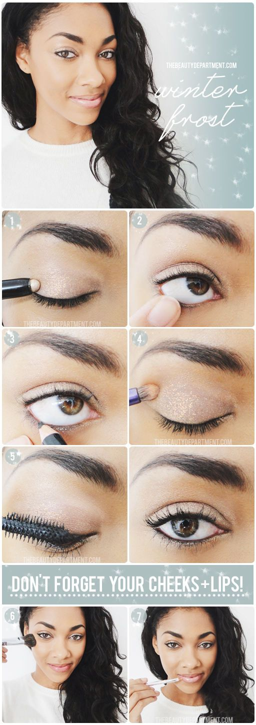 Nude Eyes with Glitter