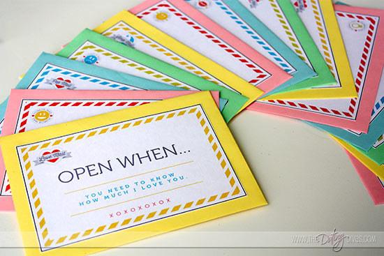 Open-When Letters