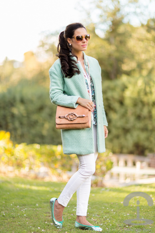 Pastel Blue Outfit for Winter 2015