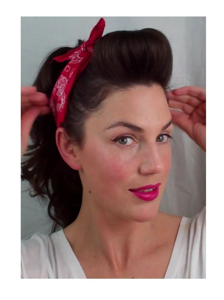 Pinned Up Hair With Bandana for Retro Hairstyles