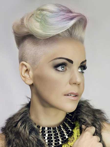 Platinum Hair with Rainbow Shade