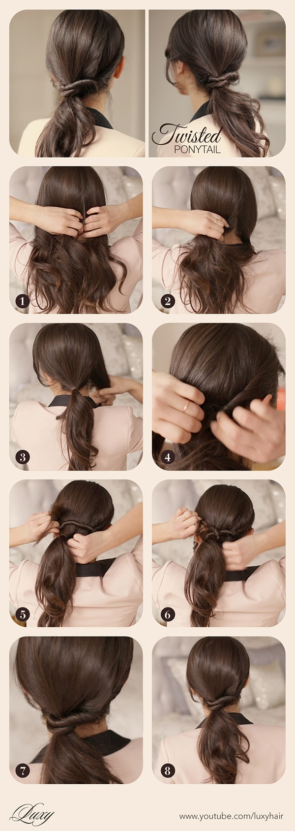 Ponytail with Simple Twists