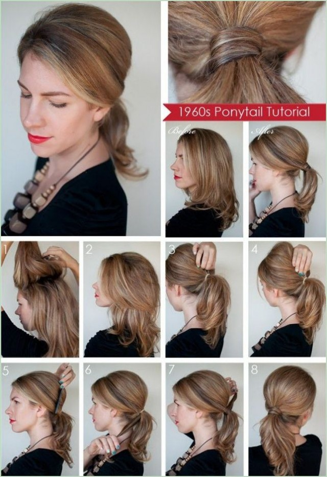 10 hair tutorials for your mid length hair pretty designs ponytail solutioingenieria Image collections